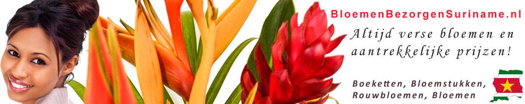 Bloemen, boeketten, bloemstukken en ruikers bezorgen in Suriname